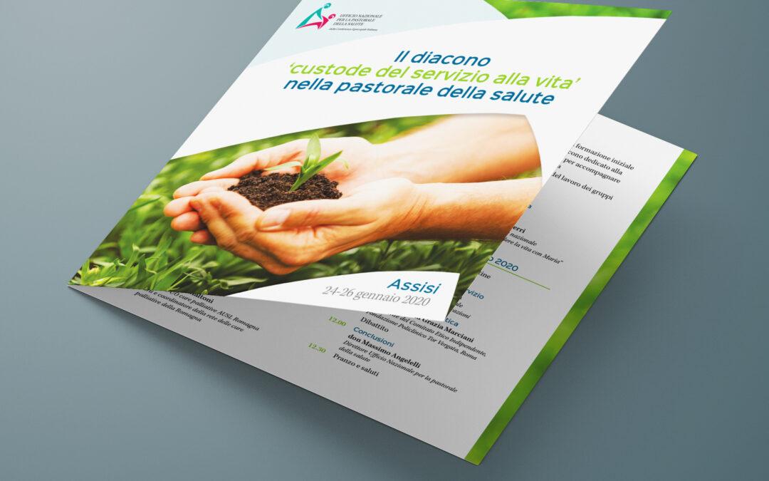 Brochure per eventi sulla pastorale della salute