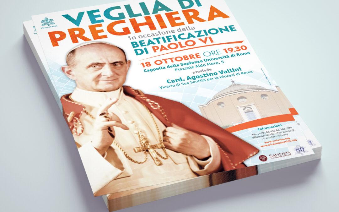 Veglia per la beatificazione di Paolo VI